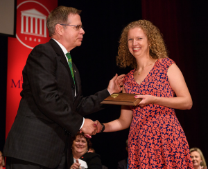 BioMolecular Science chair Kristie Willett won the 2017 University of Mississippi Faculty Achievement Award