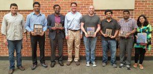 Left to Right: Mohammed Jihan, Dr. Pankaj Pandey, Chinni Yalamanchili, Dr. Stephen Cutler, Dennis Carty, Harshul Batra, Surendra Jain and Jagrati Jain