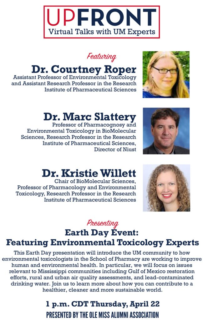 Event flyer with pictures and titles of Courtney Roper, Marc Slattery and Kristie Willett along with event details.