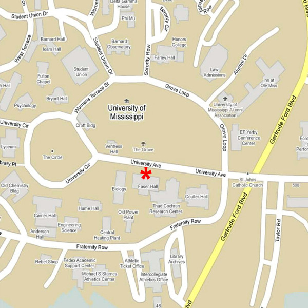 university of mississippi campus map Center For Pharmaceutical Marketing And Management Directions university of mississippi campus map