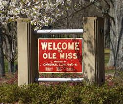 Welcome to Ole Miss sign