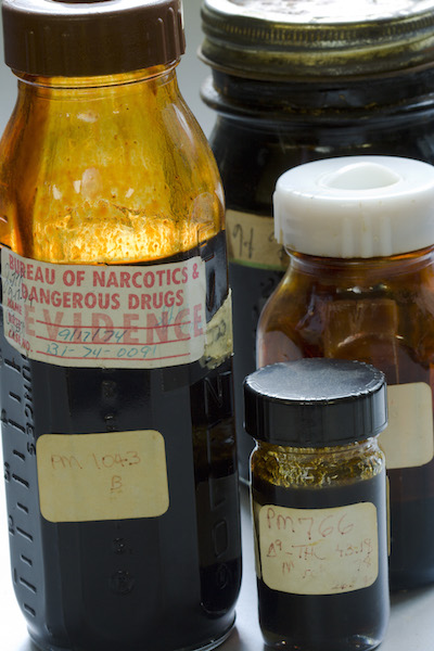 Illicit marijuana products from the Marijuana Project's archives.