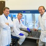 David Pasco (right), scientist at the University of Mississippi School of Pharmacy, with his co-researchers