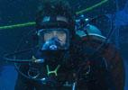 Image: UM professor Marc Slattery underwater in scuba gear