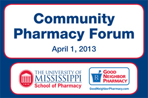 The Community Pharmacy Forum will be held on April 1 in Jackson.