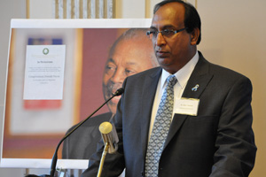 Babu Tekwani presented to the U.S. Senate Working Group on Malaria as part of World Malaria Day last year.