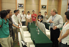 Dale Nagle (second from right) attended the first joint U.S.-China Summit for Marine Biotechnology in August.