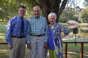 Dean David D. Allen with Wally and Betty Guess