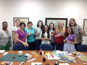 The PharmAd Bookbinders' Guild group.