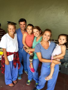 Tate Davis, David Gregory, Mary Claire Jarrell and Christine in Honduras.