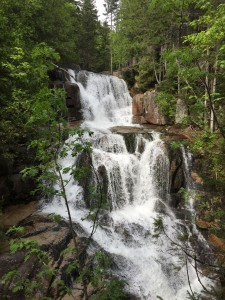 Waterfall on Mt. Katahdin at Baxter State Park in Maine.