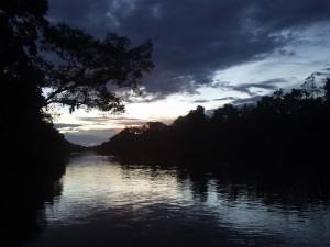 Peruvian Amazon sunrise.
