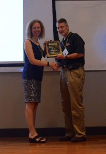 Dr. Kristie Willett won the 2017 Instructional Innovation Award at the Ole Miss School of Pharmacy Faculty Retreat