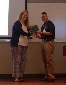 Dr. Laurie Fleming won the 2017 Faculty Service Award at the Ole Miss School of Pharmacy Faculty Retreat