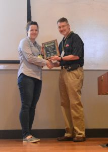 Dr. Meagen Rosenthal won the 2017 New Investigator of the Year Award at the Ole Miss School of Pharmacy Faculty Retreat