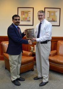 S. Narasimha Murthy won the Cumberland Pharmaceuticals, Inc. Researcher of the Year Award.