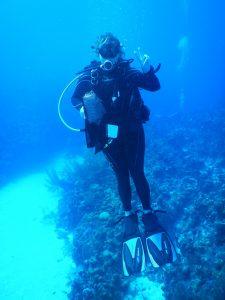 Ann Fairly Barnett diving