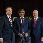 Ikhlas Khan selected as a Distinguished Professor with Chancellor Vitter and Provost Wilkin