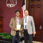 Pankaj Pandey presented Borne Award from John Rimoldi.