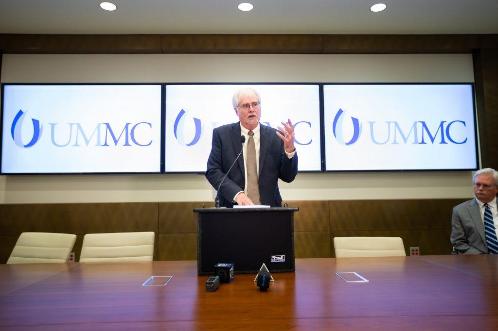 Larry Walker at UMMC Press Conference