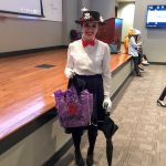 Student dressed as Mary Poppins for Halloween.