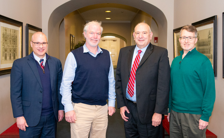 Phlight Pharma group with Dean Allen and Provost Wilkin
