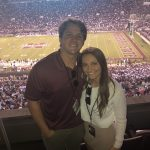 Tate Pepper and his girlfriend at a Mississippi State football game
