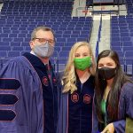 Three students in masks