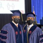 Two students in masks