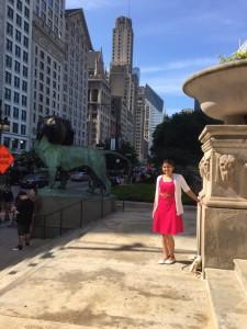 Manasi Suryavanshi in Chicago sightseeing while on Summer Internship, 2015