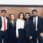 PDD_Phi Kappa Phi initiates_Amit Pillai, Corrine Sweeney, Rui Wang, Akash Patil, Rishi Thakkar