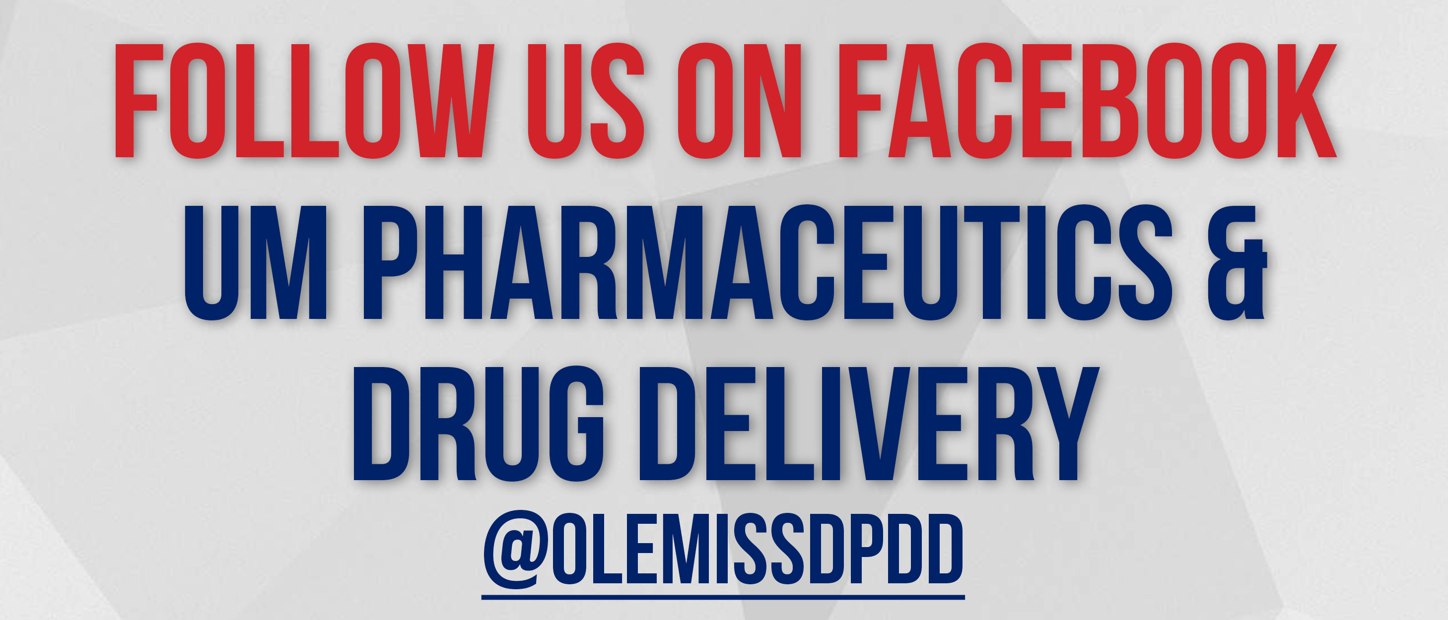 "Graphic with text ""Follow us on Facebook, @olemissdpdd"""