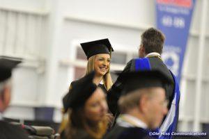 Student graduates from the pharmacy school