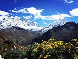 Mountains in Huascaran National Park near Huaraz, Peru