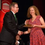 Kristie Willett wins the 2017 University of Mississippi Faculty Achievement Award
