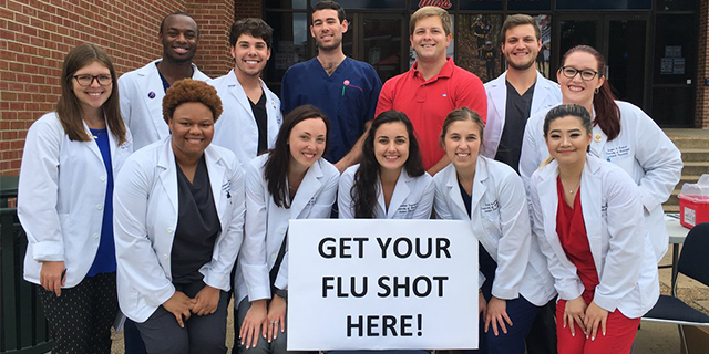 Flu Shot Group Picture