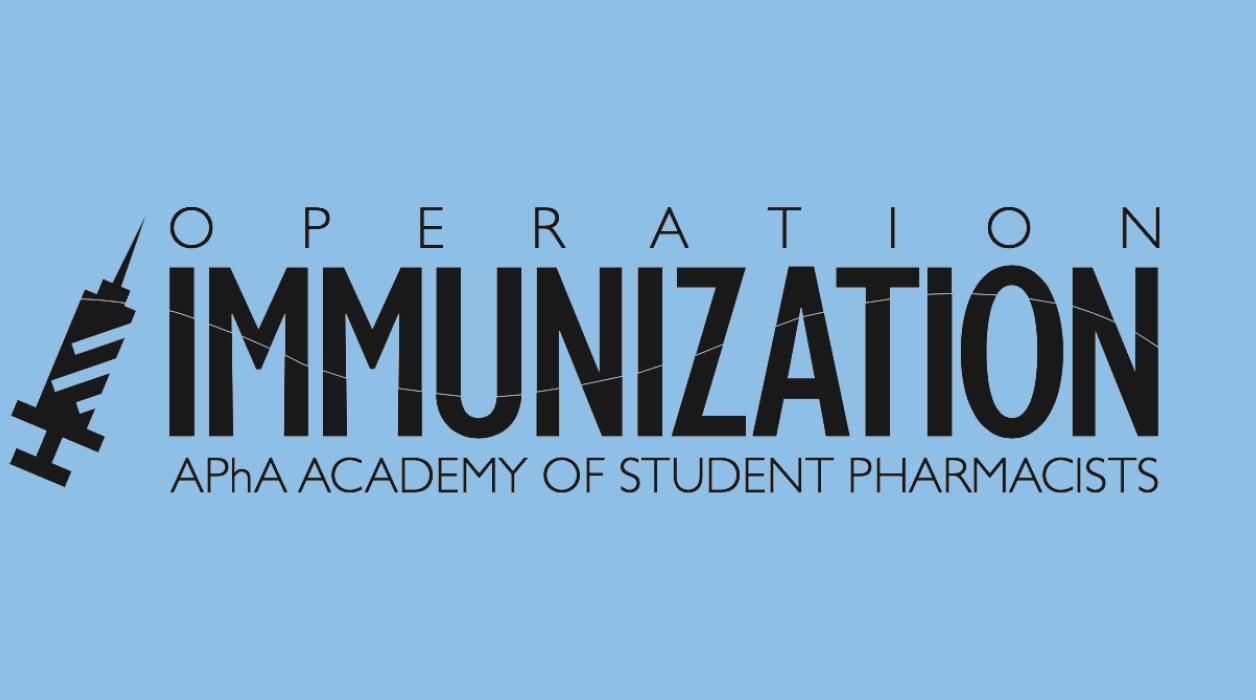 Operation Immunization logo on blue background