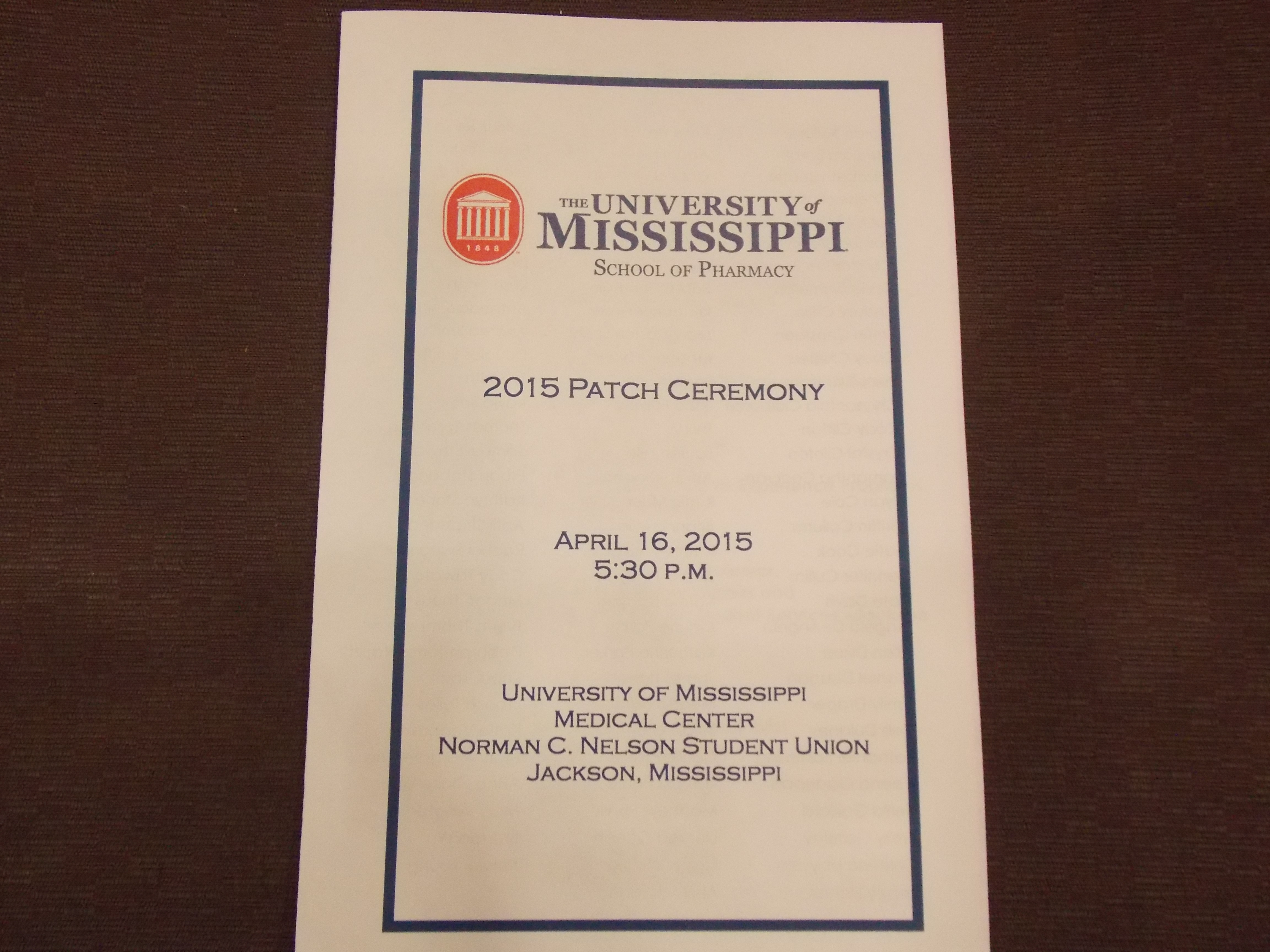 Picture of the program